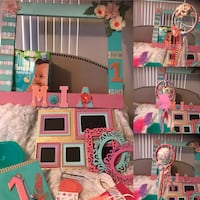 pink, white, and blue doll house Los Angeles, 90012