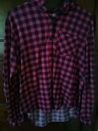 pink and black checked sport shirt Knoxville