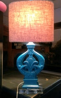 Turquoise color table lamp San Antonio, 78233