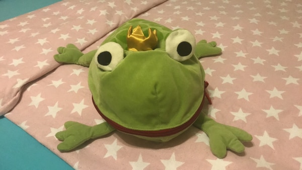 Hide away frog for a princess