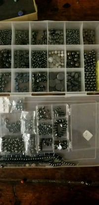 black and white hematite and grey glass bead lot Fresno, 93704