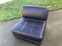 Brown Leather Chair/Loveseat