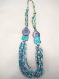 Purchased necklace in Egypt, on Nile Cruise - Wood & Stone