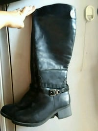 pair of black leather knee-high boots El Cajon, 92020