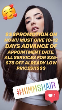 PROMOTION NOW!!Hair Extension Servixes. Fusion. Microlink. Tape in Toronto, M6H 2H8