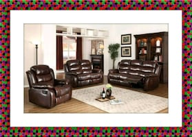 Burgundy Recliner sofa and loveseat