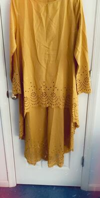 Hi low dresses laser cut yellow amd floral georgette  Columbia, 21044