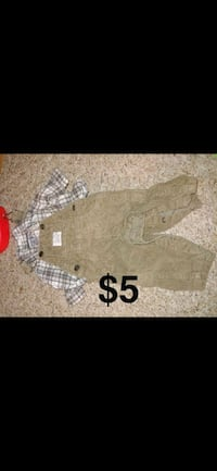 gray and white button-up jacket Tecumseh, 49286