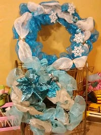 Two Winter themed wreaths Tulsa, 74133