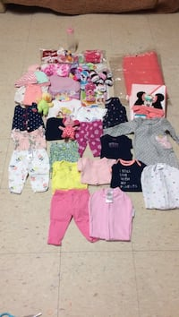 Baby girl stuff slightly used most of them are new, newborn for girl my daughter is out grown them.