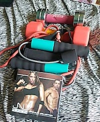 black skipping rope and dumbbells Halifax