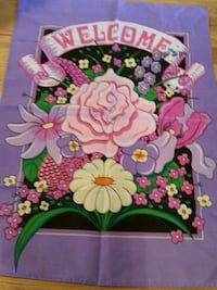 """Outdoor Decorative Welcome Flowers Flag 41"""" x 30"""""""