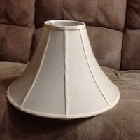 Lamp Shade. Color: Pearl White. Great condition, never use.  $10
