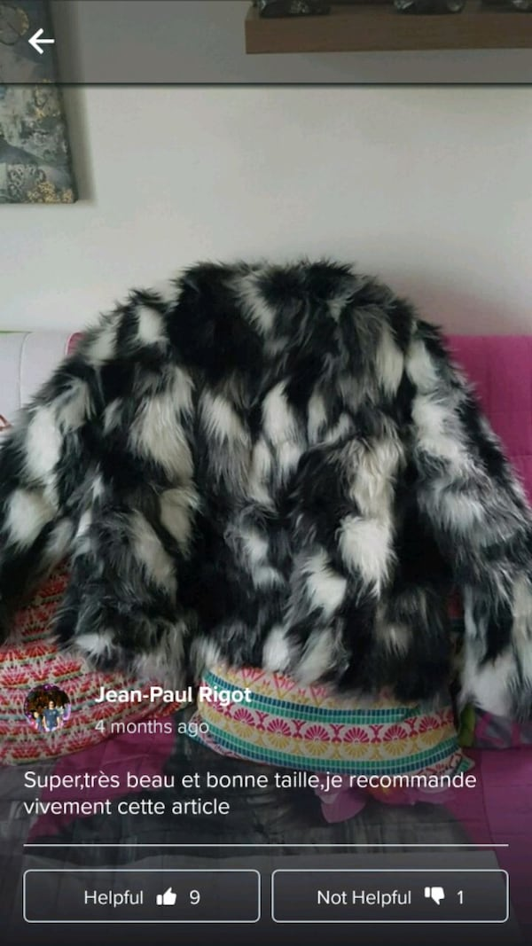 Brand new faux fur jacket zip up d6758782-48a5-4979-94ae-9c84f50e1789