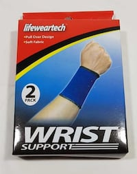 PACKAGE OF 2 WRIST SUPPORT PULL OVER DESIGN SOFT FABRIC NEW Oshawa
