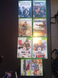assorted-title Xbox 360 game case lot 618 km