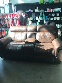 Brown leather couch new  Riverside, 92506