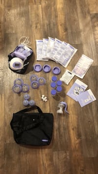 Breast pump and storage bags