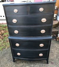 Black gold mahogany federal highboy dresser chest of drawers  Kensington, 20895