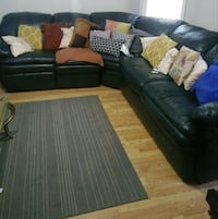 black and brown sectional couch Newark, 07112