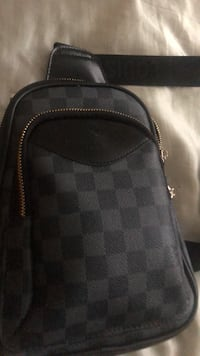 black and gray Louis Vuitton leather backpack Washington, 20019