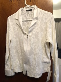 Ladies white blouse/top -$40 OBO