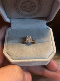 2.67 raw uncut Diamond ring with a 14ct rose gold tree branch band Las Vegas, 89139