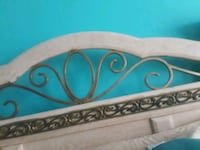 white and blue wooden bed headboard Queens, 11412