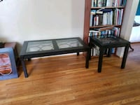 black wooden framed glass top coffee table Springfield, 22151