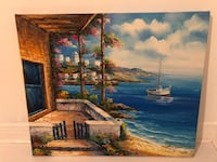 ORIGINAL Positano Oil Painting - 22.5 by 19 inches Toronto