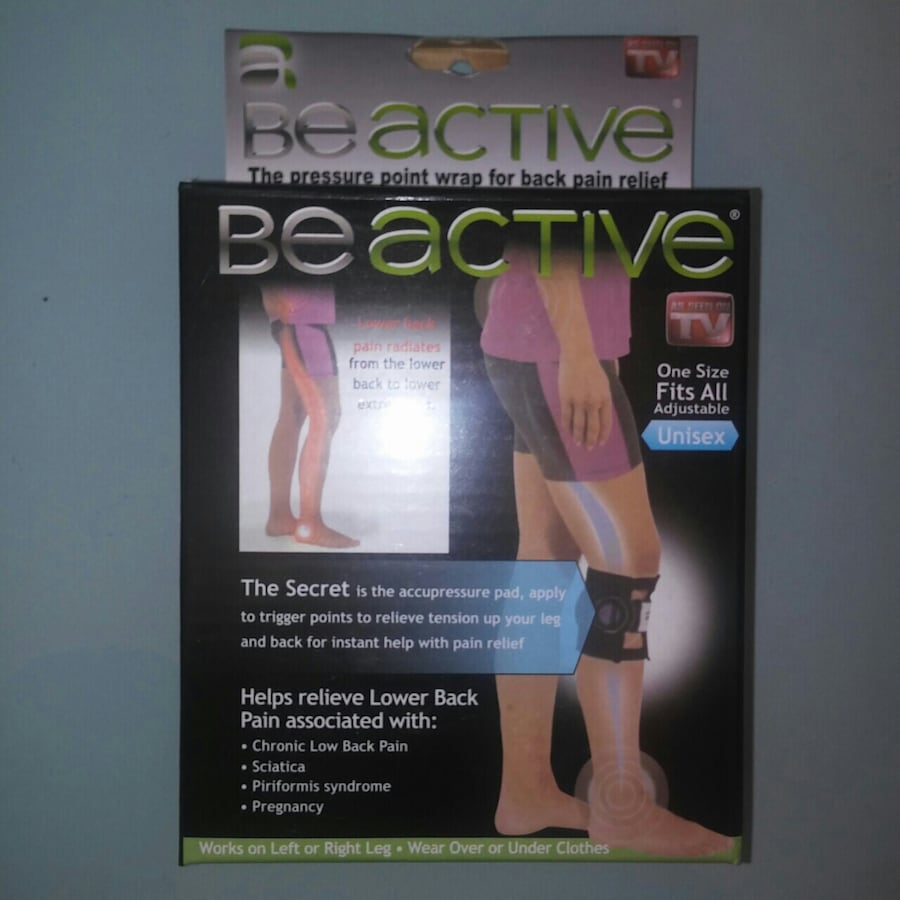 NEW: BEACTIVE pressure point leg wrap for back pain relief   As seen o afe19bc5-2da3-4a45-a25b-2d2041053837