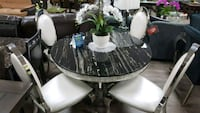 Elegant dining set 7pc with real marble top Las Vegas, 89121
