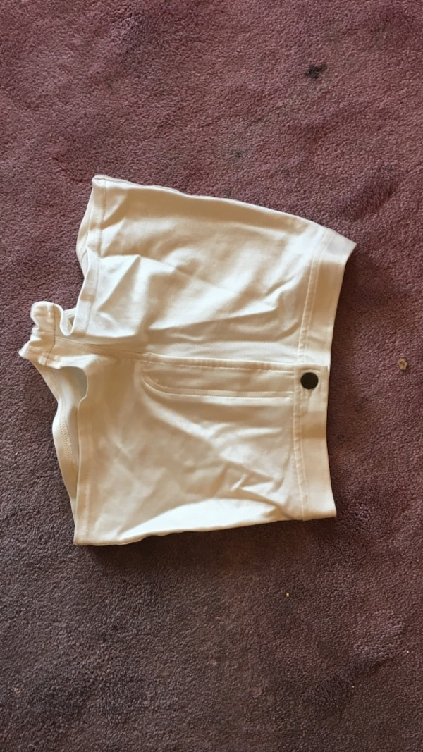 Small $85 American apparel white cream high waisted shorts