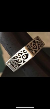 925 Sterling Square Ring SZE:7