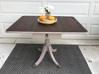 Drop leaf table antique metal claw feet and a drawer can be used as a desk  Reminderville, 44202