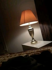 white and brown table lamp Lawrence, 01843
