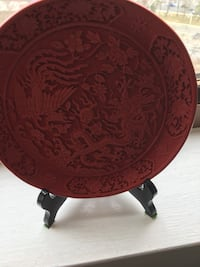 Red dragon decorative plate  North Bethesda