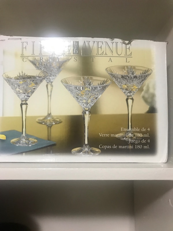 Fifth avenue crystal martini glasses  6915935a-caae-4517-a85c-b9b5ccb22759
