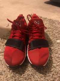 pair of red-and-black Adidas basketball shoes Upper Marlboro, 20774