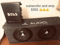 JL AUDIO SUBWOOFER and amp 2251 mi