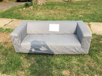 Gray fabric 2-seat sofa. Great for a dorm or small space. IKEA   Annandale, 22003