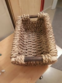 ROPE WICKER BASKET