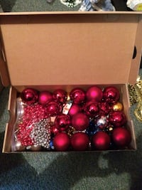 Box of Christmas tree decoration Kelowna, V1W