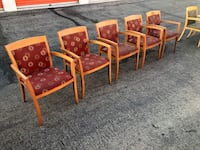 Set of 5 Stationary Office Chairs Las Vegas, 89121