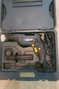 Corded drill with 60 piece drill bit kit