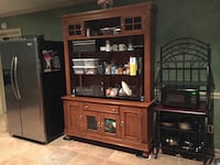Brown wooden tv hutch Knoxville, 31050