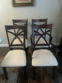 4 Dinning room chairs.