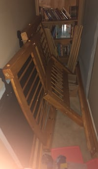 Two twin sized bed frames bunk bed