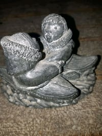 Genuine Inuit soap stone sculpture...a wolf origin Bradford West Gwillimbury