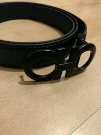 black leather belt with silver buckle Greater London, E5 9JZ